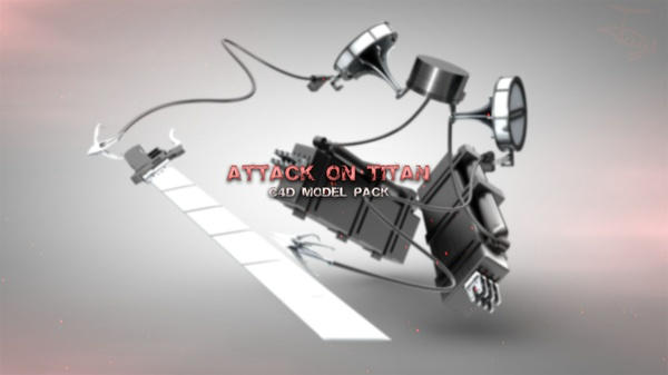 Attack on Titan C4D Model Pack - Jays