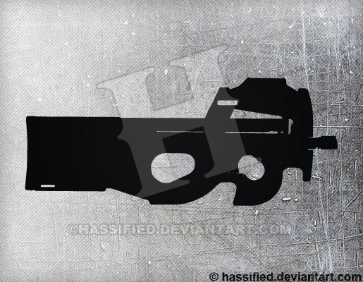 FN P90 - printable, vector, svg, art