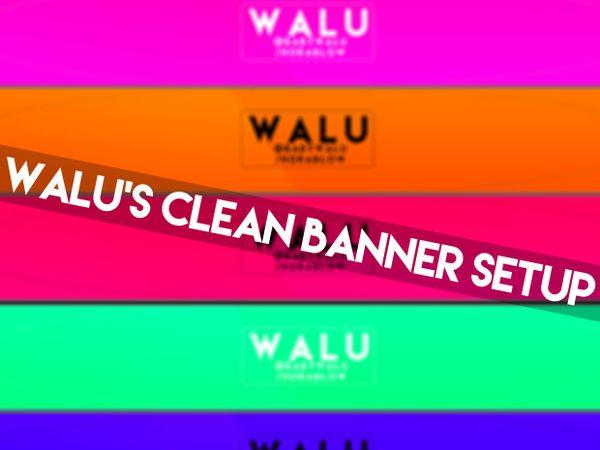 Clean Banner Setup  -PSD
