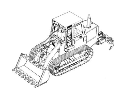LIEBHERR LR641 CRAWLER LOADER OPERATION & MAINTENANCE MANUAL
