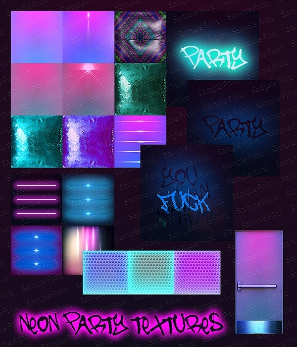 NEON PARTY TEXTURES