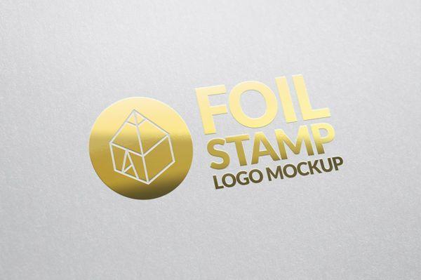 Foil Stamp Logo Mockup