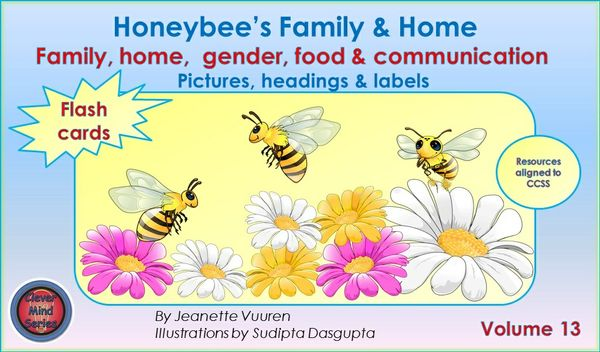 FLASH CARDS (PDF) HONEYBEE'S FAMILY & HOME VOLUME 13 - PICTURES, HEADINGS, LABELS