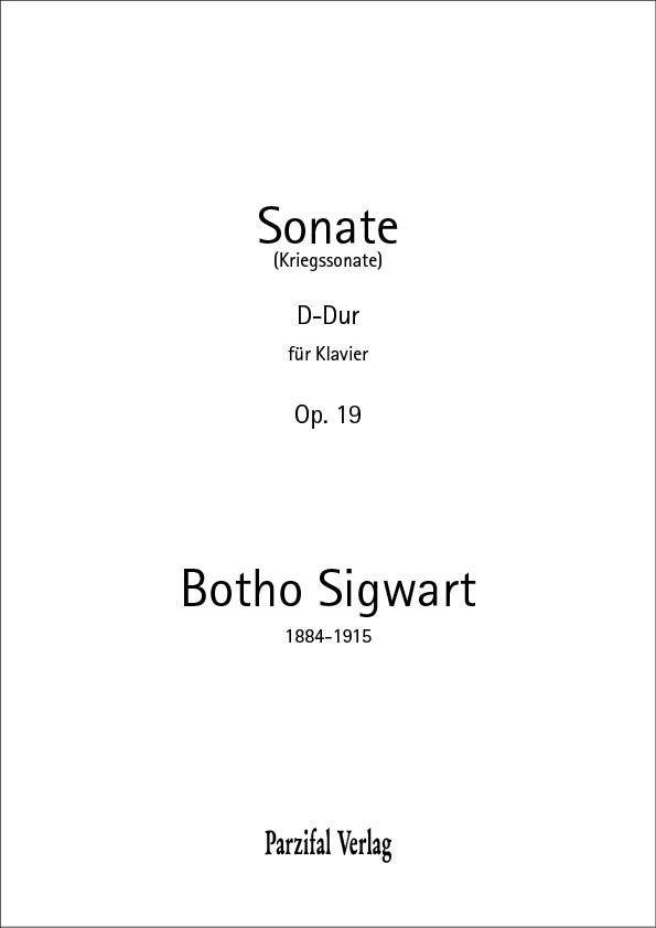 Sonate für Klavier op. 19 Botho Sigwart