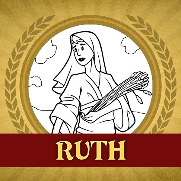 The Heroes of the Bible Coloring Pages: Ruth