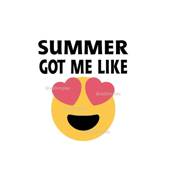 Summer SVG, Summer Got Me Like Heart Eyes