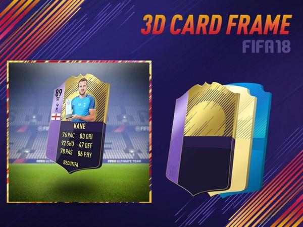 FIFA 18 3D CARD FRAME