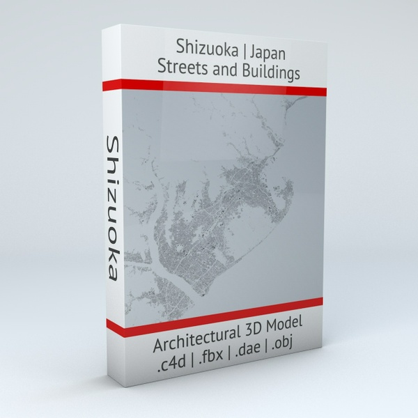 Shizuoka Streets and Buildings Architectural 3D Model