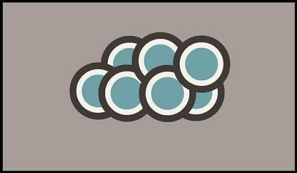 el·e·gant Blue Circles