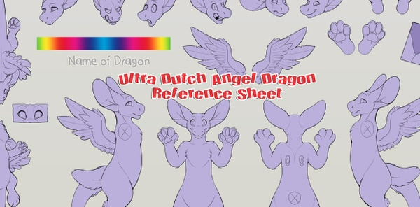 Ultra Angel Dragon Reference Sheet