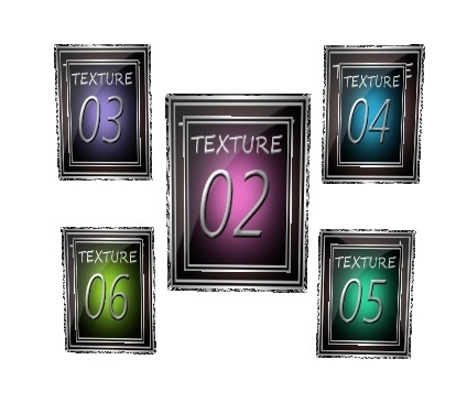 5 Grouped Picture Frame mesh