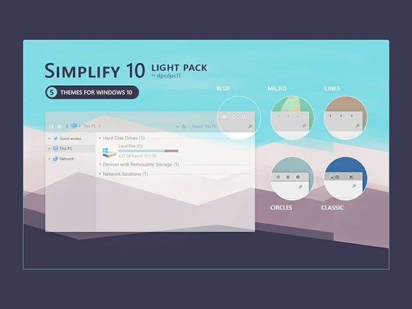 Simplify 10 Light - Windows 10 Theme Pack