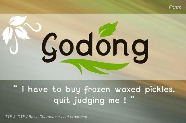 Godong Leaves Font - PWYW