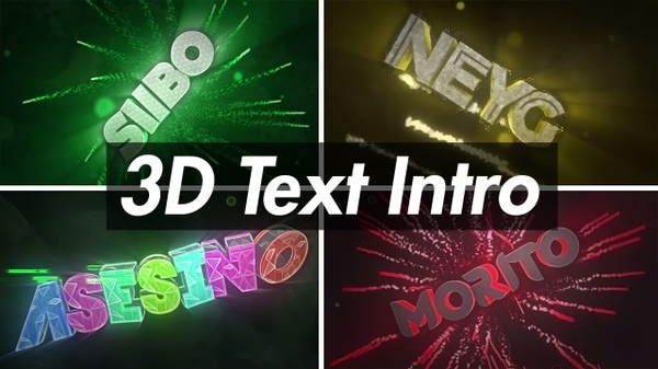 3D Text Intro (2/5)