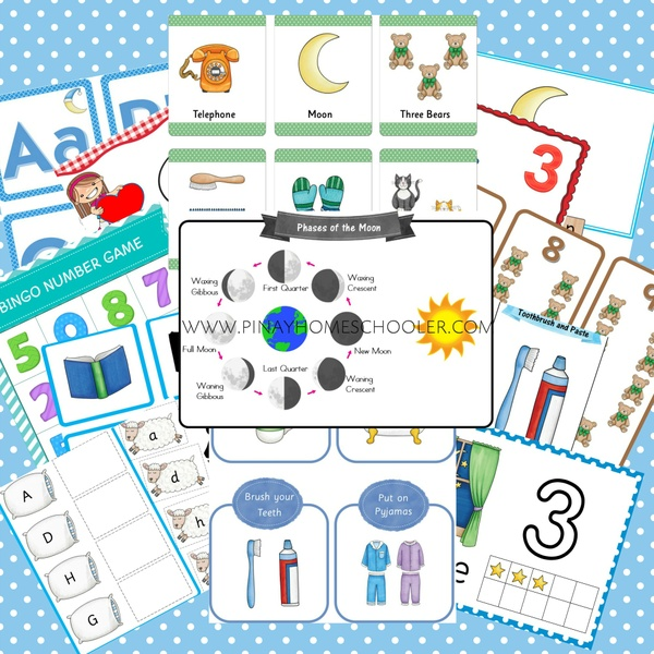 Bedtime Themed Printable Bundle Pack (Preschool Unit)