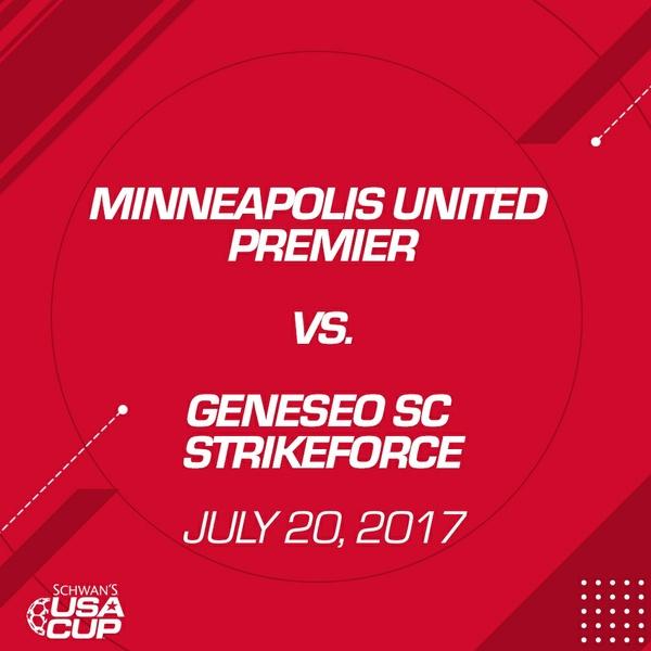 Girls U15 Gold - July 20, 2017 - Minneapolis United Premier vs Geneseo SC Strikeforce