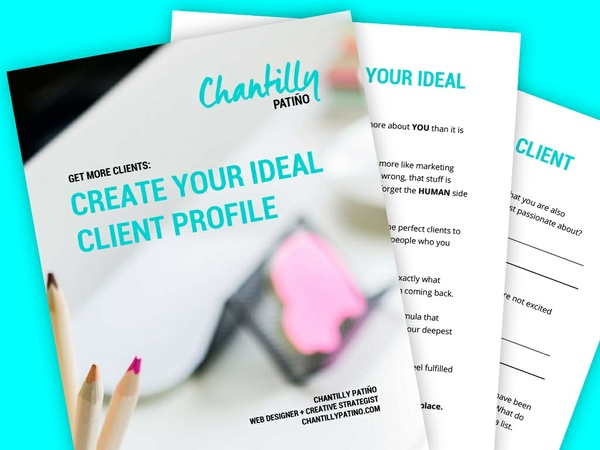 Ideal Client Profile Workbook [12-page, .pdf file, instant download]