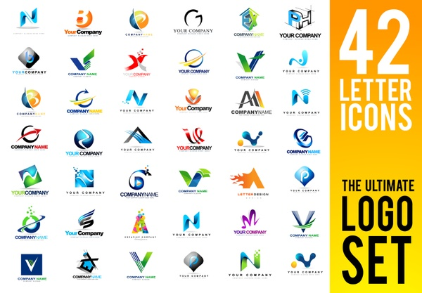 Letters Logo Design Set | 42 Professional Quality Vector Illustrations