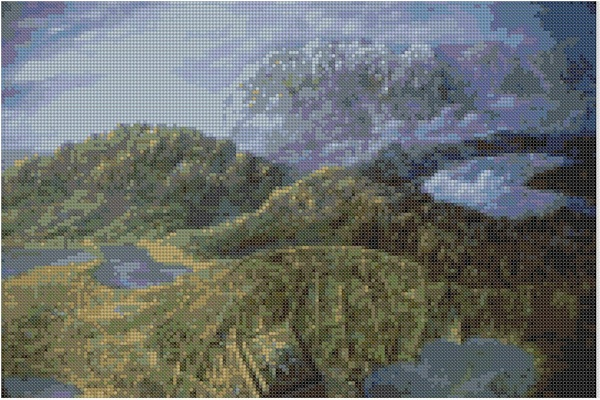 cross stitch pattern Mar-025c