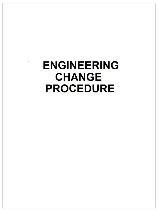 Engineering Change Procedure
