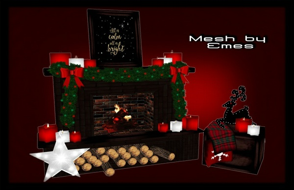 Mesh-Christmas Fireplace