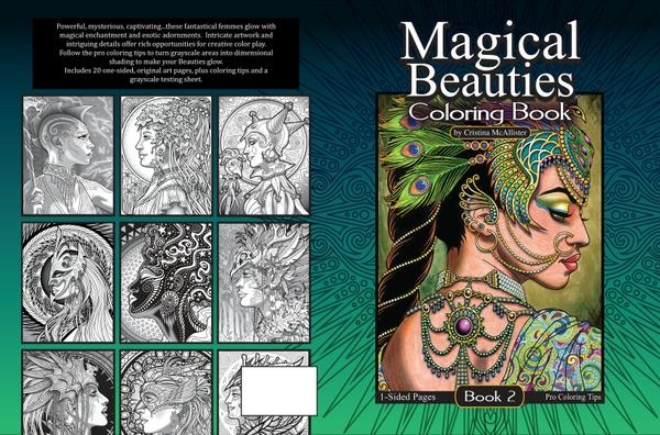 Magical Beauties Book 2 - 20 Print-Your-Own Coloring Pages, plus pro coloring tips