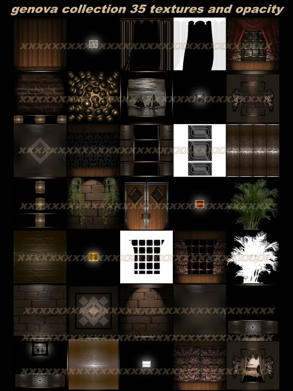 Genova collection 35 textures  IMVU ROOM and opacity