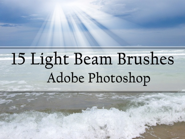 15 Light Beam Brushes for Photoshop