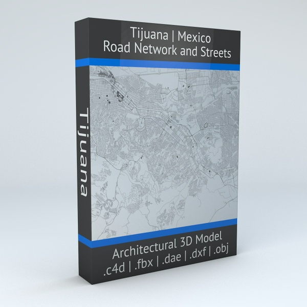 Tijuana Road Network Architectural 3D Model