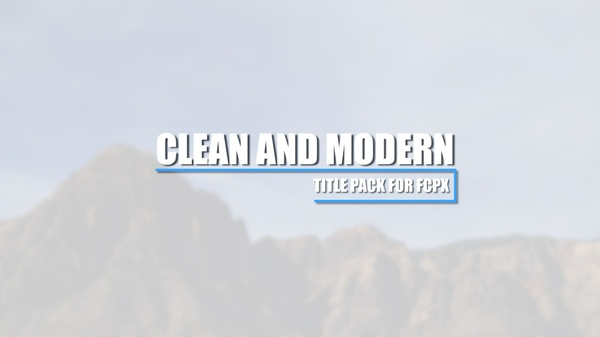 Clean & Modern Title Pack for Final Cut Pro X
