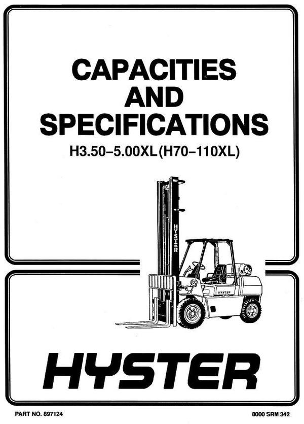 Hyster h50j manual