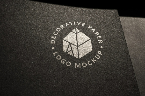 Decorative Paper Logo Mockup 2