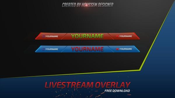 Template  Youtube Livestream Overlay Gaming