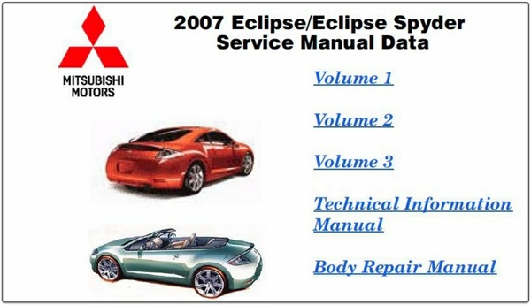 Mitsubishi Eclipse 2007 FACTORY SERVICE MANUAL