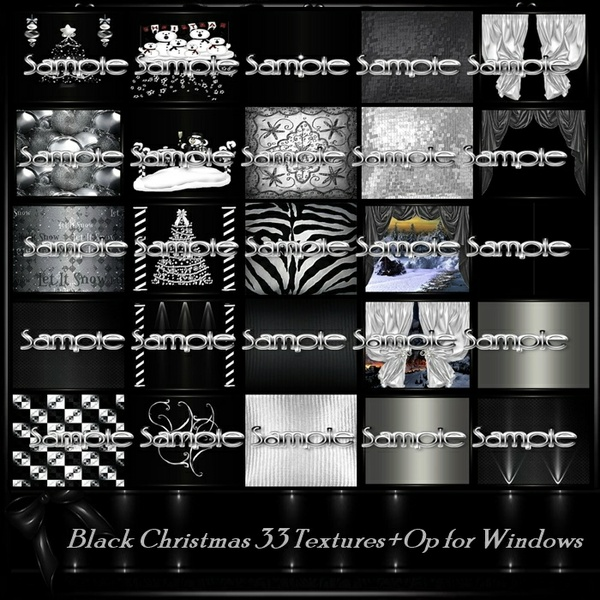 Black Christmas Room Texture Pack 33 Txt
