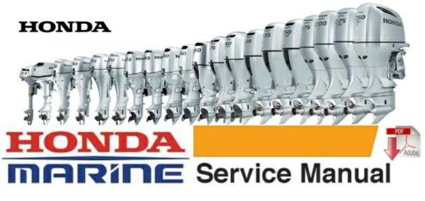 Honda B75 Twin (4-Cylinder) Marine Outboard Service Repair Workshop Manual