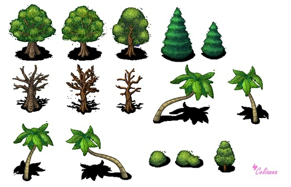 "Celianna's Parallax Tiles ""Trees 2"""