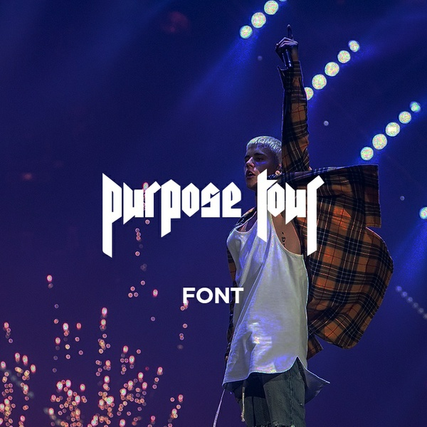 PURPOSE TOUR FONT [JUSTIN BIEBER / PENTAGRAM]
