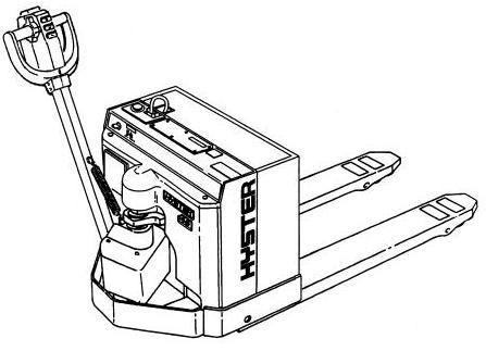 Hyster Electric Walkie B215 Series: W45XT Spare Parts List, EPC