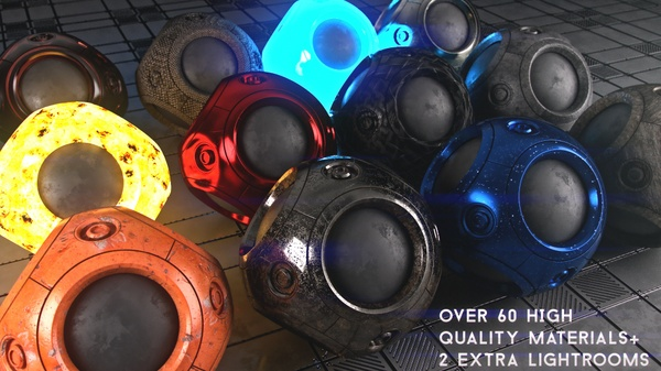 MATERIALS-VRAY for C4D + 2 Lightrooms
