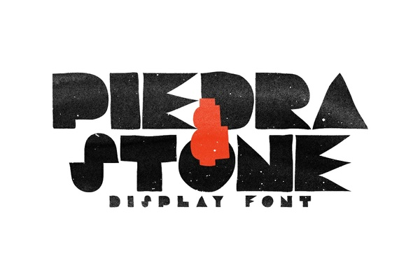 Piedra & Stone Display Font 🗿