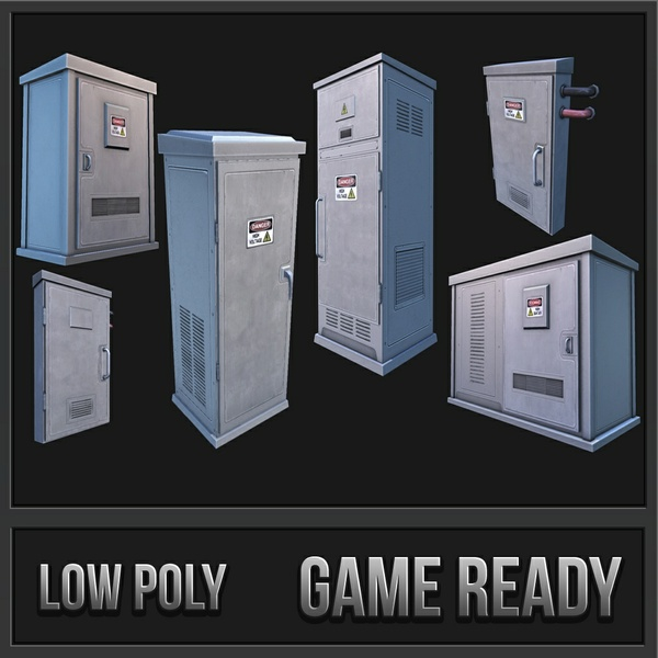 Utility / Electronic Boxes Pack | 3D Low Poly Models