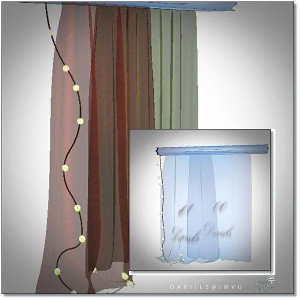 [D]Mesh Curtain Decor__Christmas2017Set01