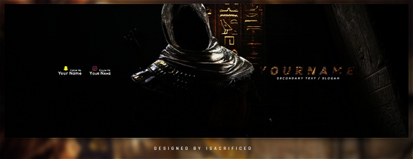 Assassins Creed Origins - Twitter Header Template
