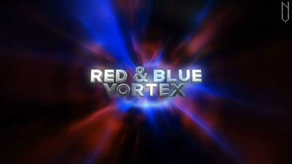 Red & Blue Vortex - 30 second HD animation