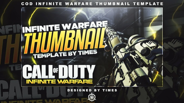 COD: Infinite Warfare Thumbnail Template PSD v1
