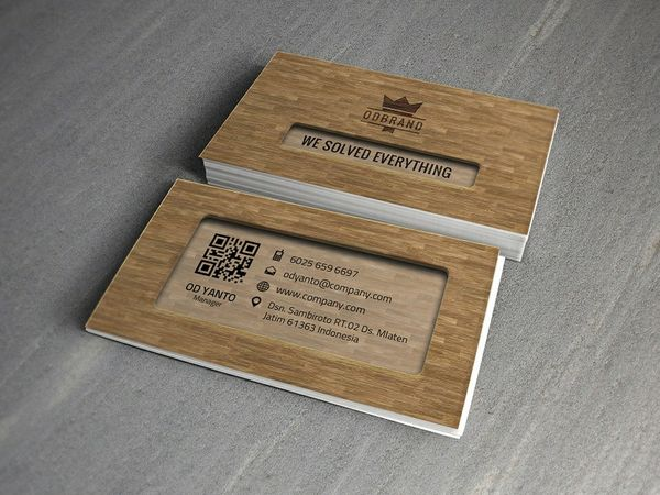 Business Card Wood Style Vol#05