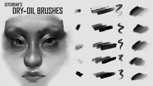 Dry Oil Brushes by Istebrak
