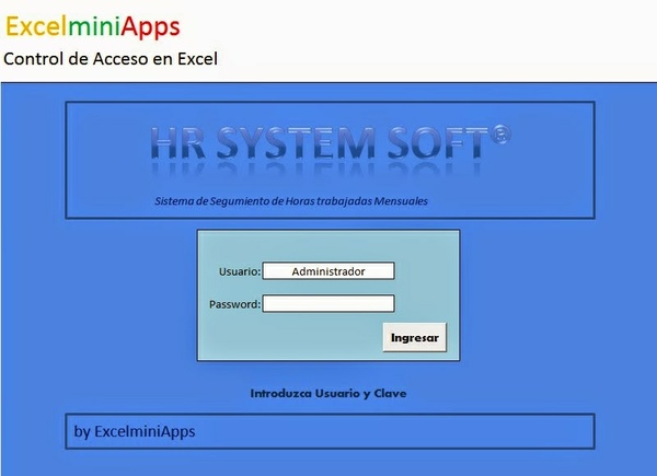Plantilla Control de Acceso en Excel (Versión Simple) by ExcelminiApps