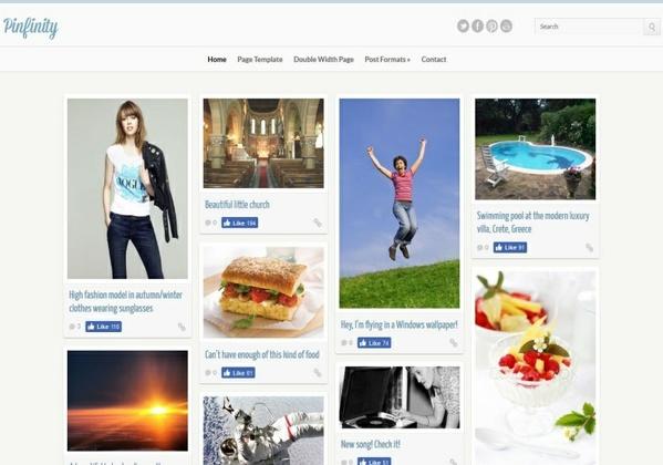Pinfinity Blogger Template Premium Version